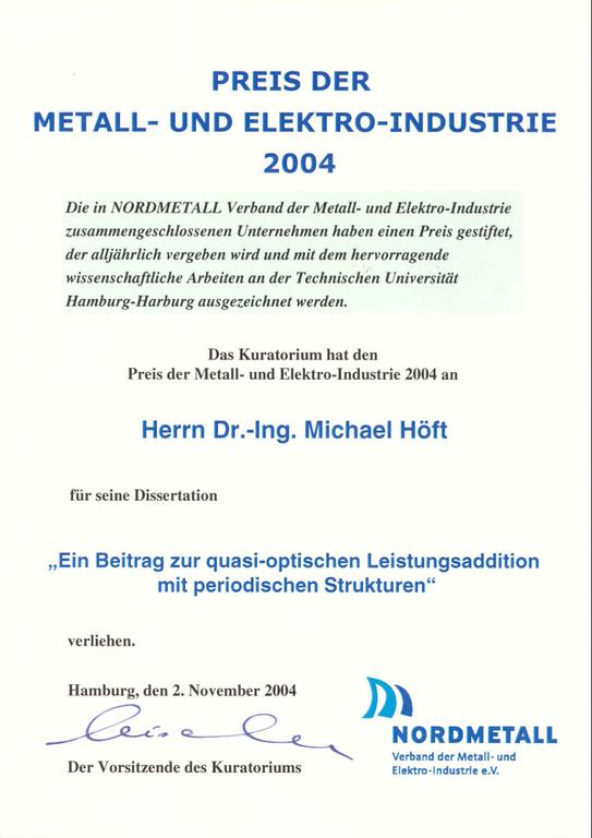 Nordmetallpreis 2004