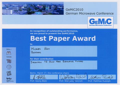 Best Paper Gemic 2010